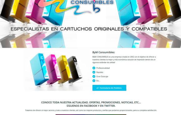 Página Web B y M Consumibles