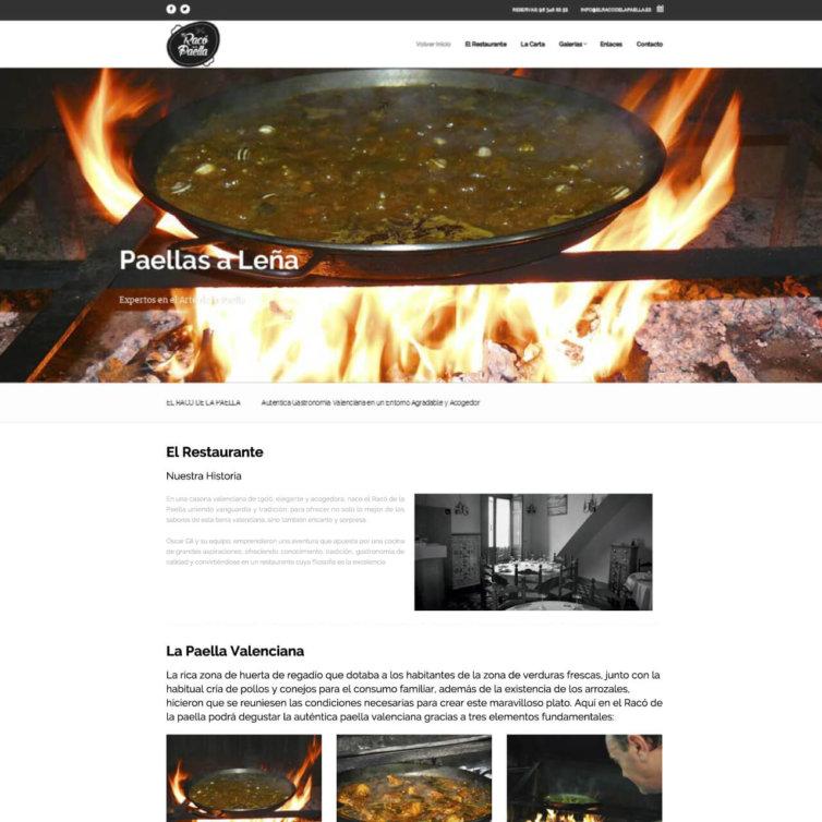 Página Web El Raco de la Paella