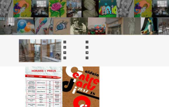 Página Web Escuela Artes Oficios Aldaya