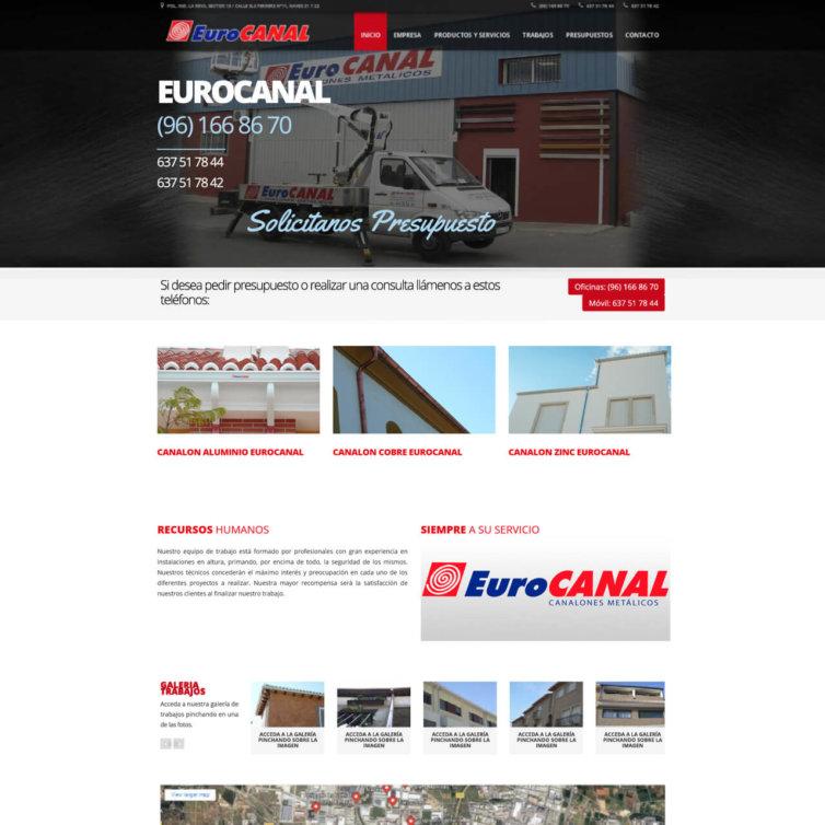 Página Web Eurocanal