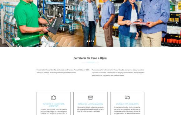Página Web Ferreteria Ca Paco e Hijos