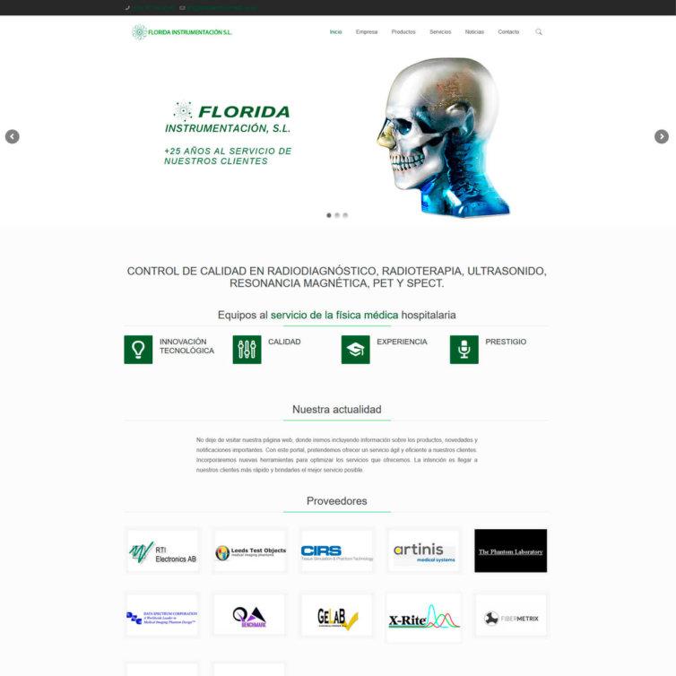 Página Web Florida Instrumentacion