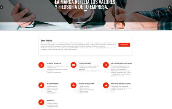 Página Web Global Patentes y Marcas