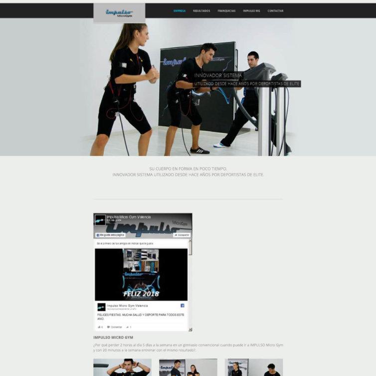 Página Web Impulso Micro GYM
