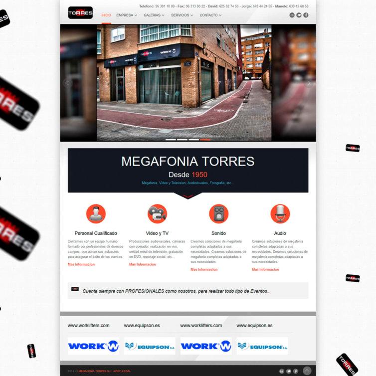 Página Web Megafonia Torres