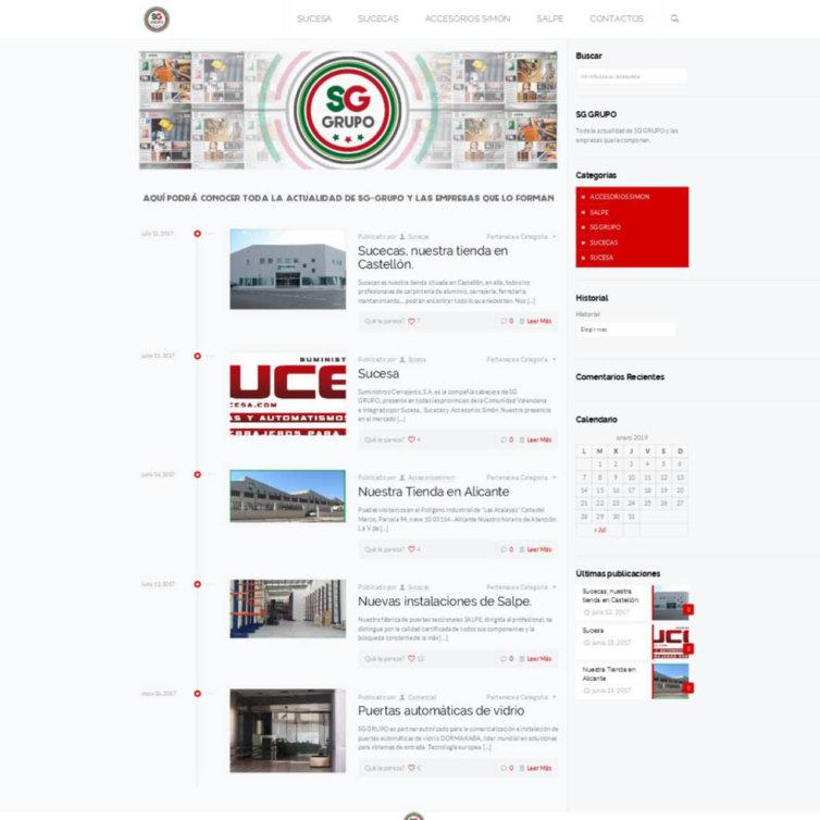 Página Web SG Grupo
