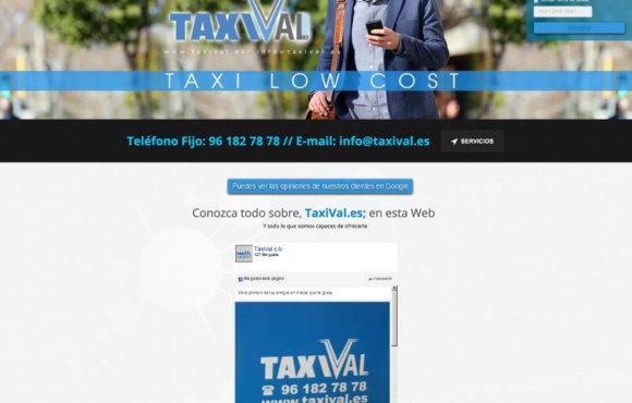 Página Web Taxival