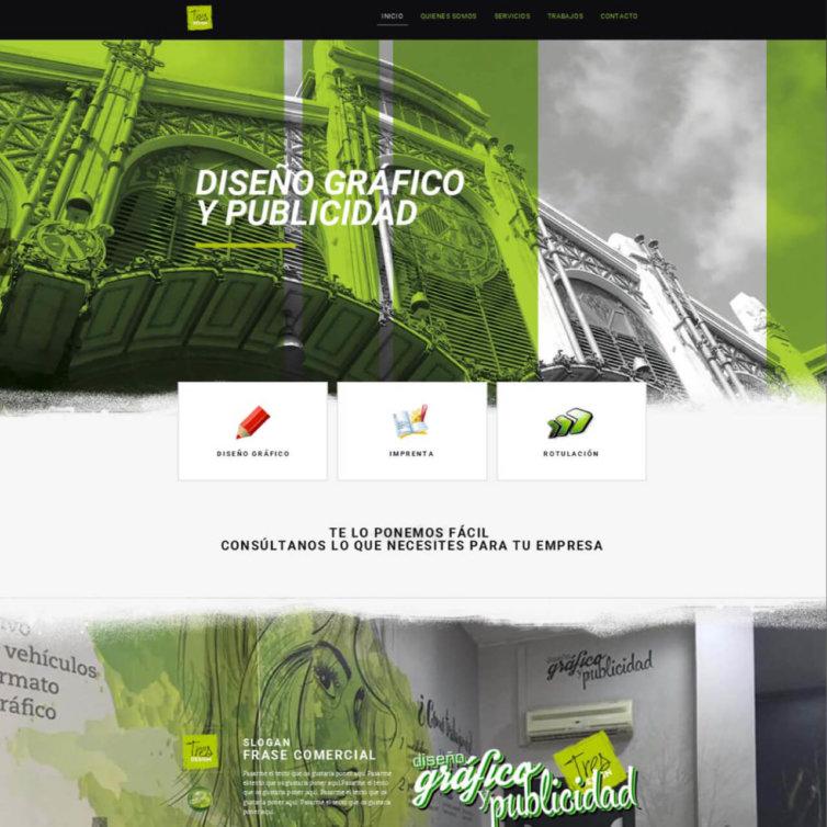 Página Web Tres Design