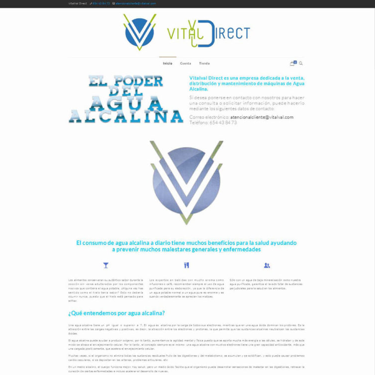 Página Web VitalVal Direct