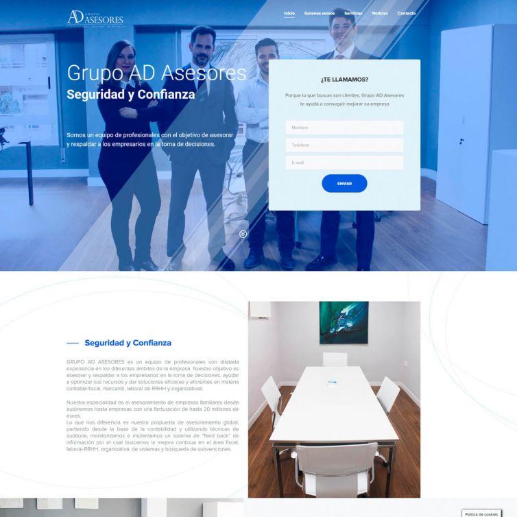 Página Web Grupo AD Asesores