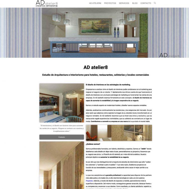Página Web AD Atelier 8