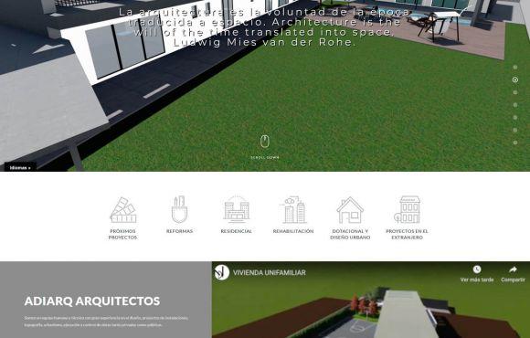 Página Web Adiarq Pastor y Peralta Arquitectos