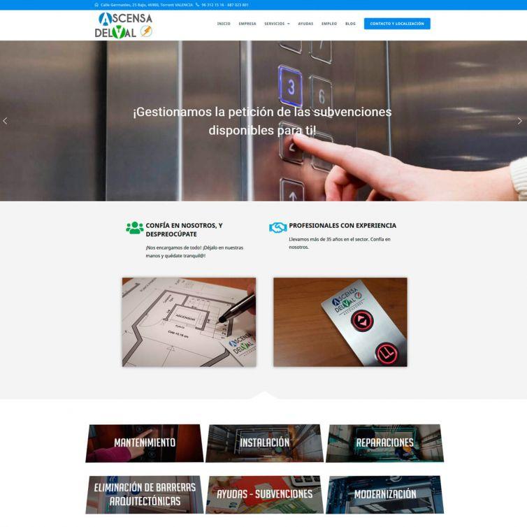 Página Web Ascensores Ascensa Delval
