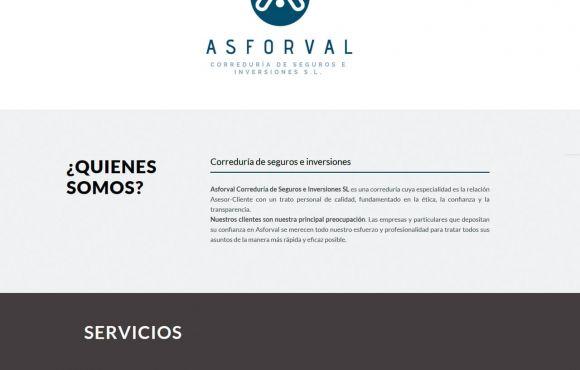 Página Web Asforval