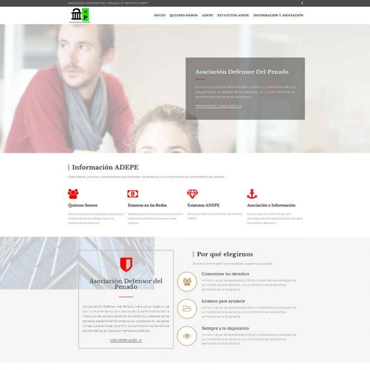 Página Web Asociacion Defensor del Penado