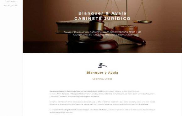 Página Web Blanquer & Asociados