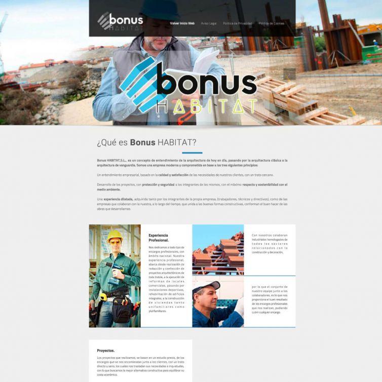 Página Web Bonus Habitat
