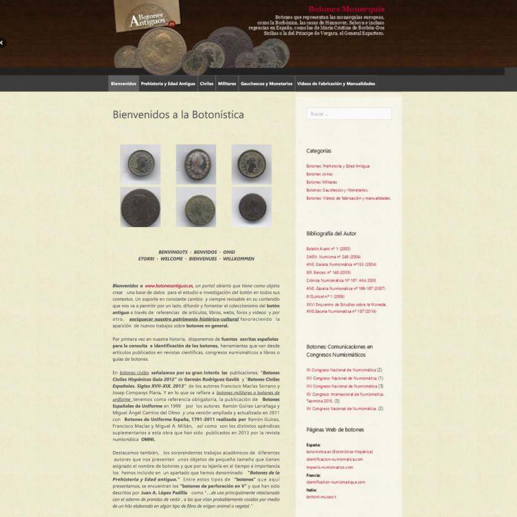 Página Web Botones Antiguos