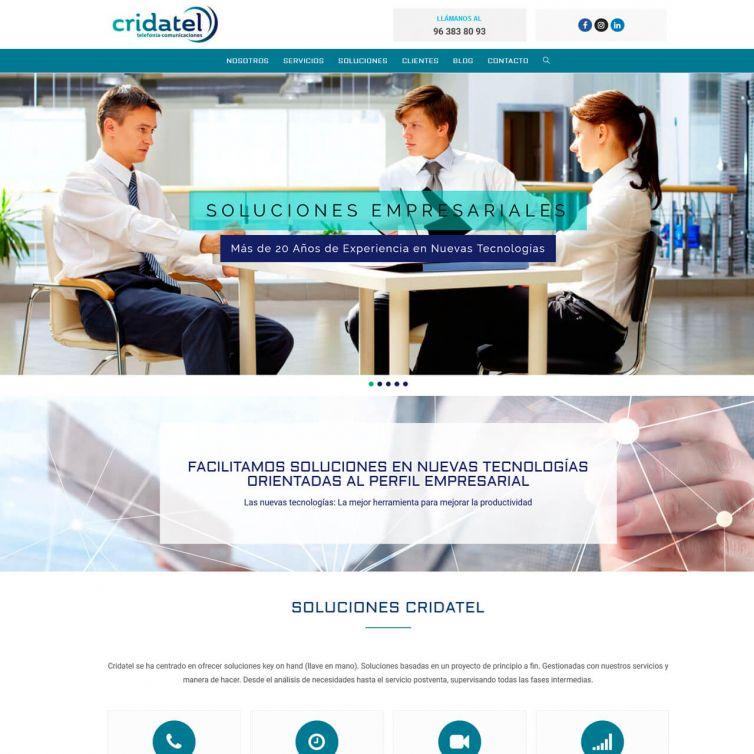 Página Web Cridatel