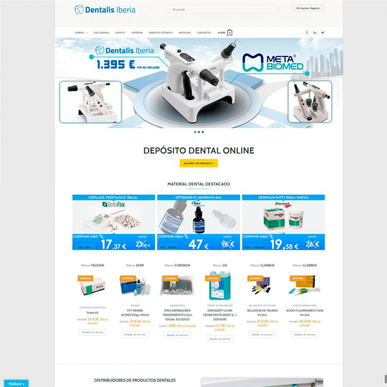Página Web Dentalis Iberia