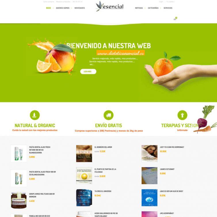 Página Web Dietetica Esencial Salud