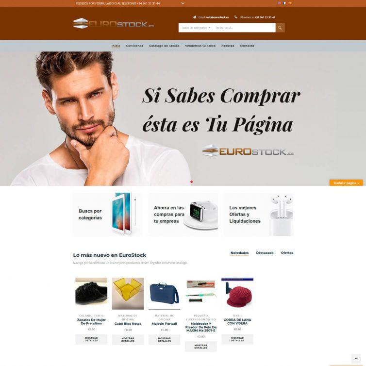 Página Web Eurostock