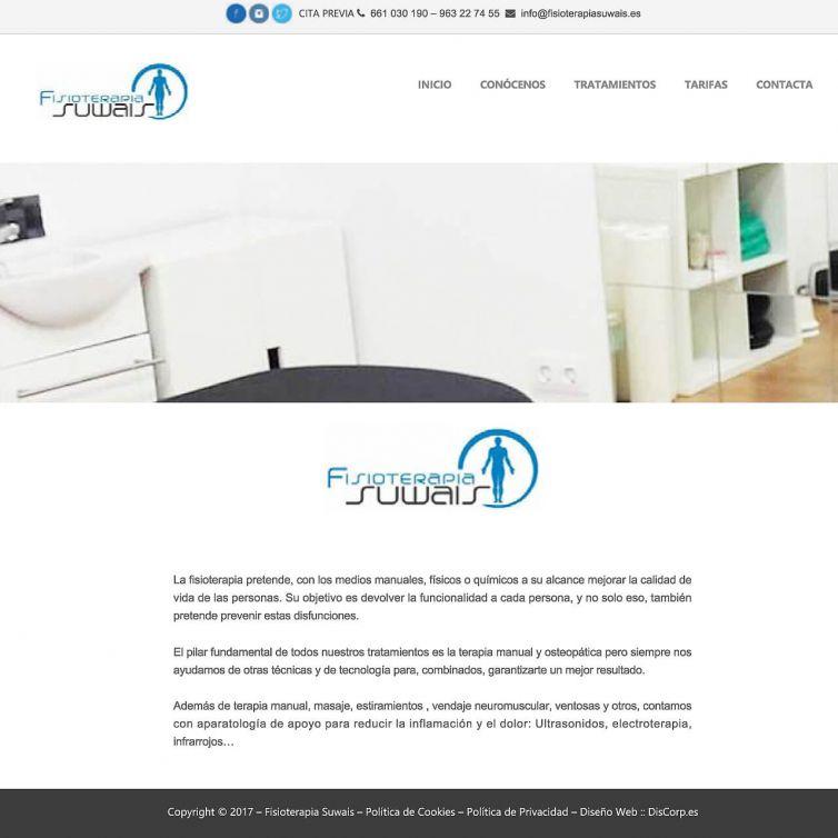Página Web Fisioterapia Suwais