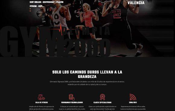 Página Web Gimnasio Olympia 2000