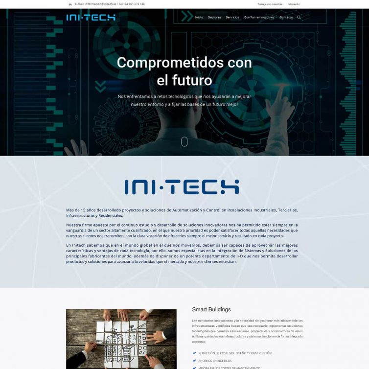 Página Web Initech Control