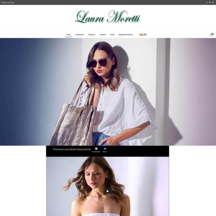 Página Web Laura Moretti