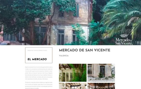 Página Web Mercado San Vicente