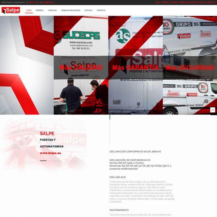 Página Web Salpe Puertas y Automatismos