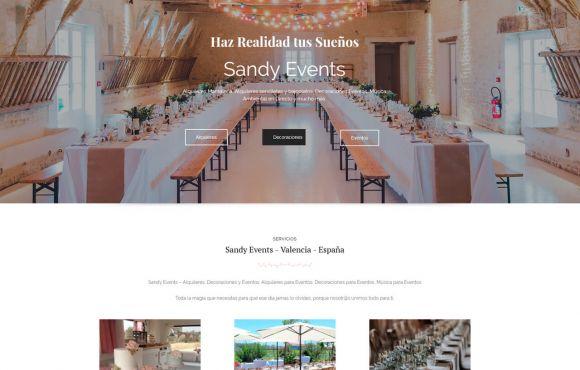 Página Web Sandy Events