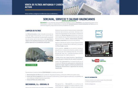 Página Web Sercaval Limpieza de Filtros
