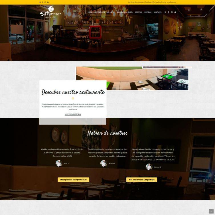 Página Web SyMbiosis Restaurante