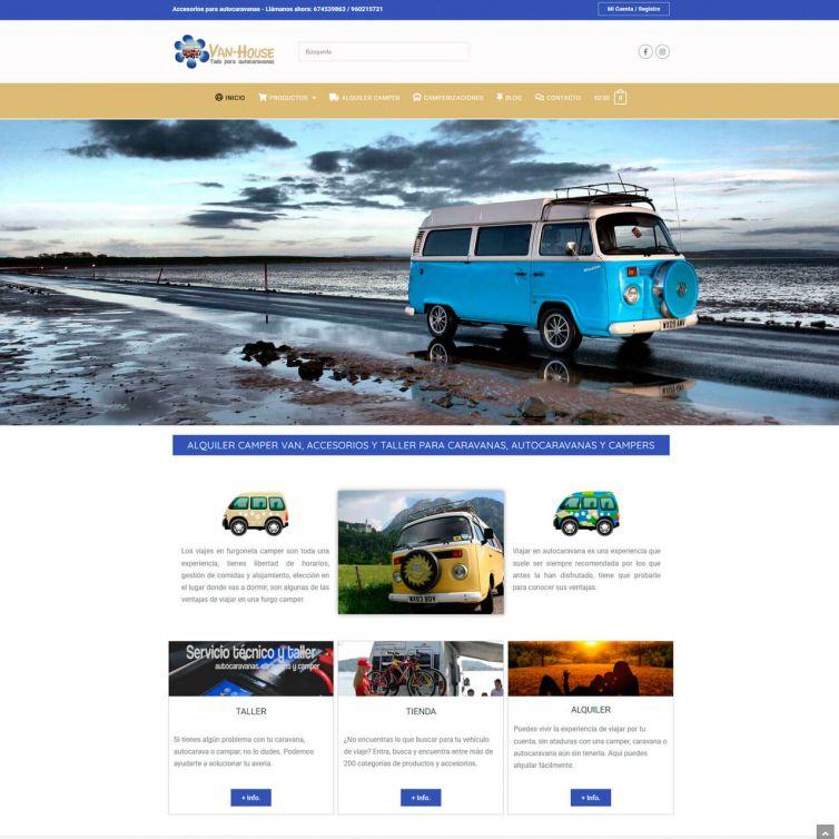 Página Web Van House