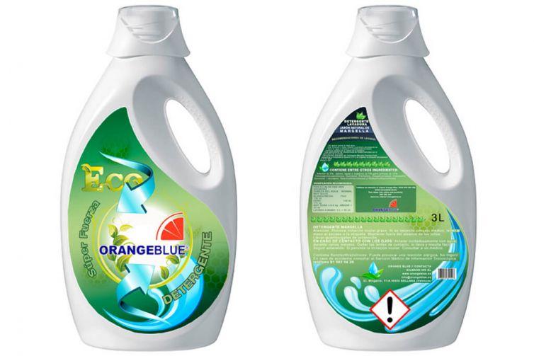 Diseño Etiqueta Envase Detergente Lavadora