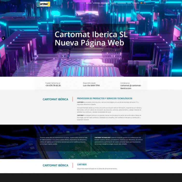 Página Web Cartomat Iberica