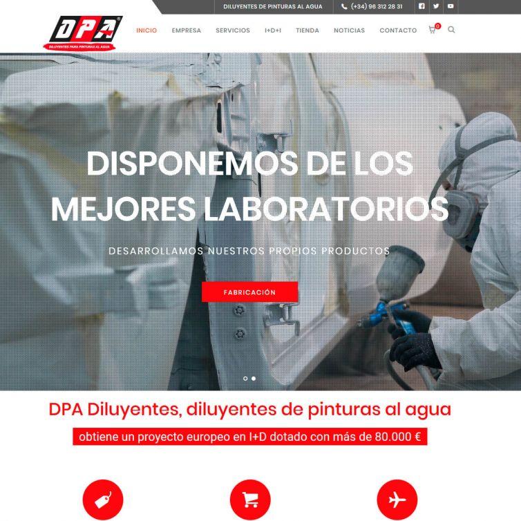 Página Web DPA Diluyentes