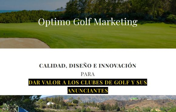 Página Web Optimo Golf Marketing