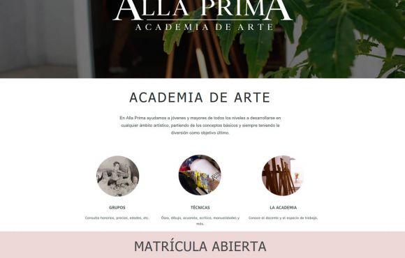Página Web Allaprima Academia de Arte