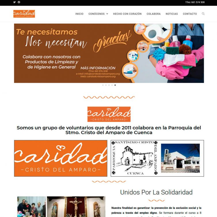 Página Web Caridad Cristo Amparo