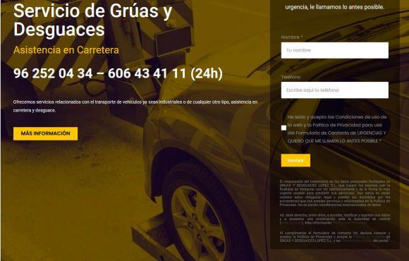 Página Web Grúas y Desguaces López