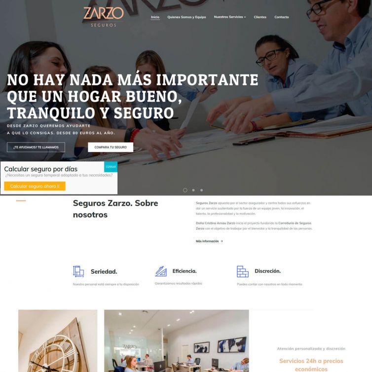 Página Web Zarzo Seguros